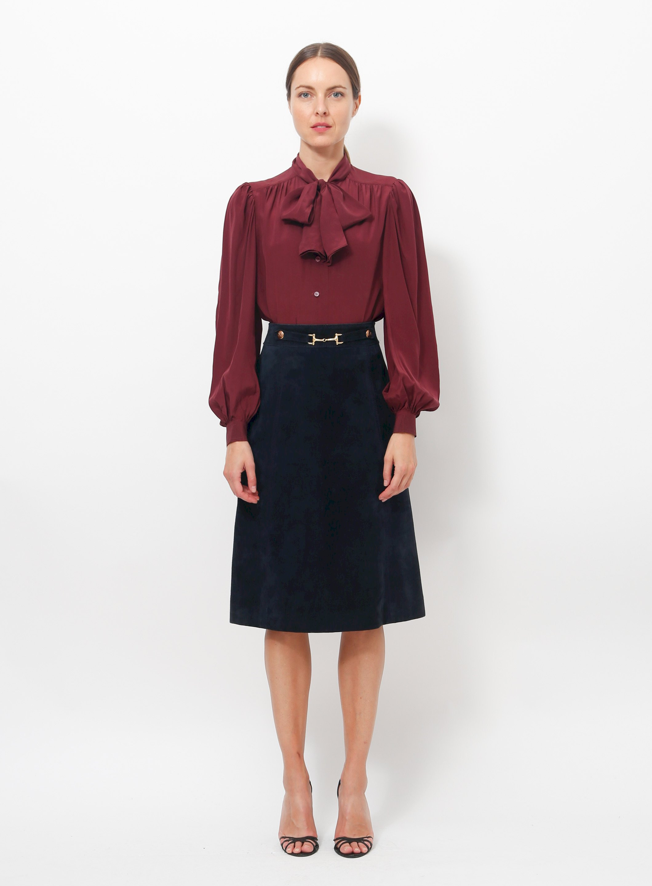 d92df3669 '70s Suede Horsebit Skirt