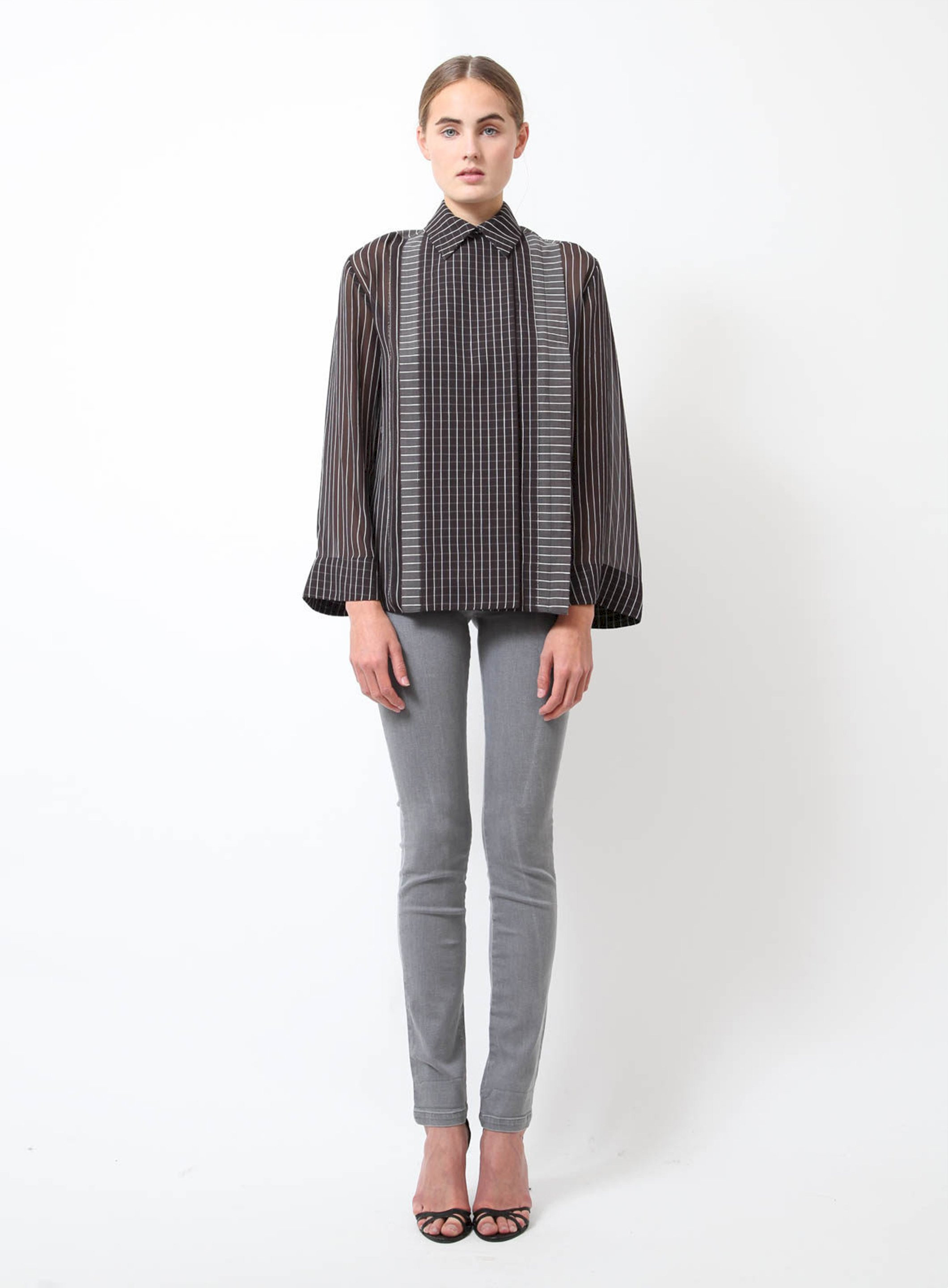 afacf87bed1ae Striped Silk Blouse