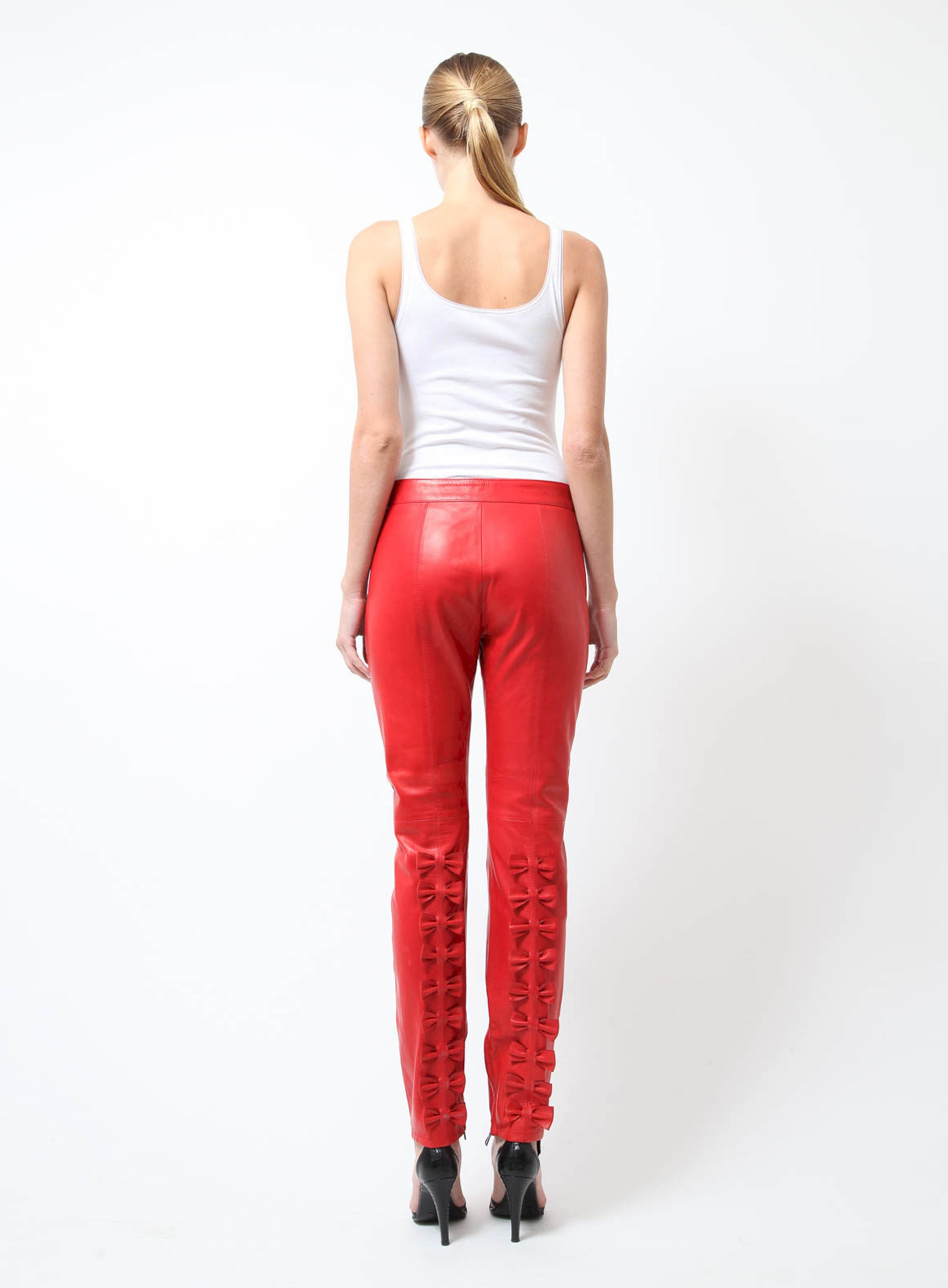 e32ffb5d28958 Red Leather Pants