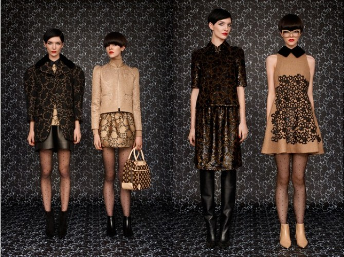 Looks from Louis Vuitton's 2013 pre-fall collection by de Libran. De Libran worked closely alongside Marc Jacobs during his reign at the house