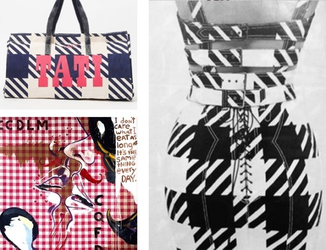 Alaïa was introduced to the Parisian high street store Tati when his friend, the artist Julien Schnabel, used their signature vichy print to create paintings. Inspired to create the same effect for couture, Alaïa introduced his