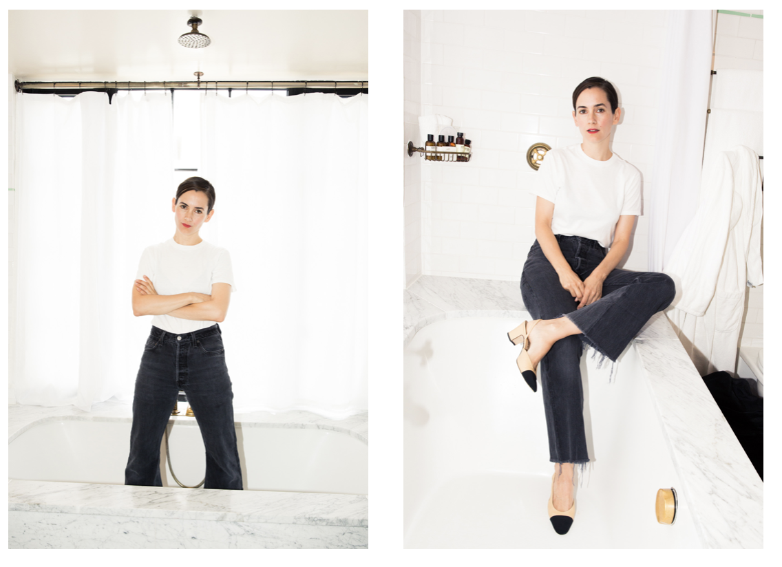 """""""I keep working until I love a look,"""" she said. """"I won't let someone wear something I don't love."""" Karla Welch photographed for The Coveteur."""