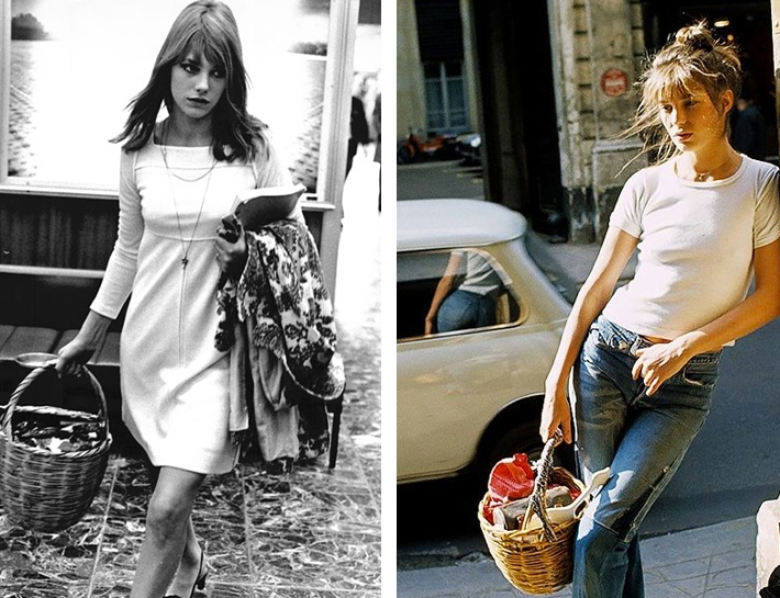 The basket was Jane Birkin's signature style. She carried it everywhere and wore it with everything, summer and winter. Woven from natural straw and always casually hanging from her arm