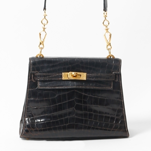 Hermès Mini Crocodile Kelly, 20cm