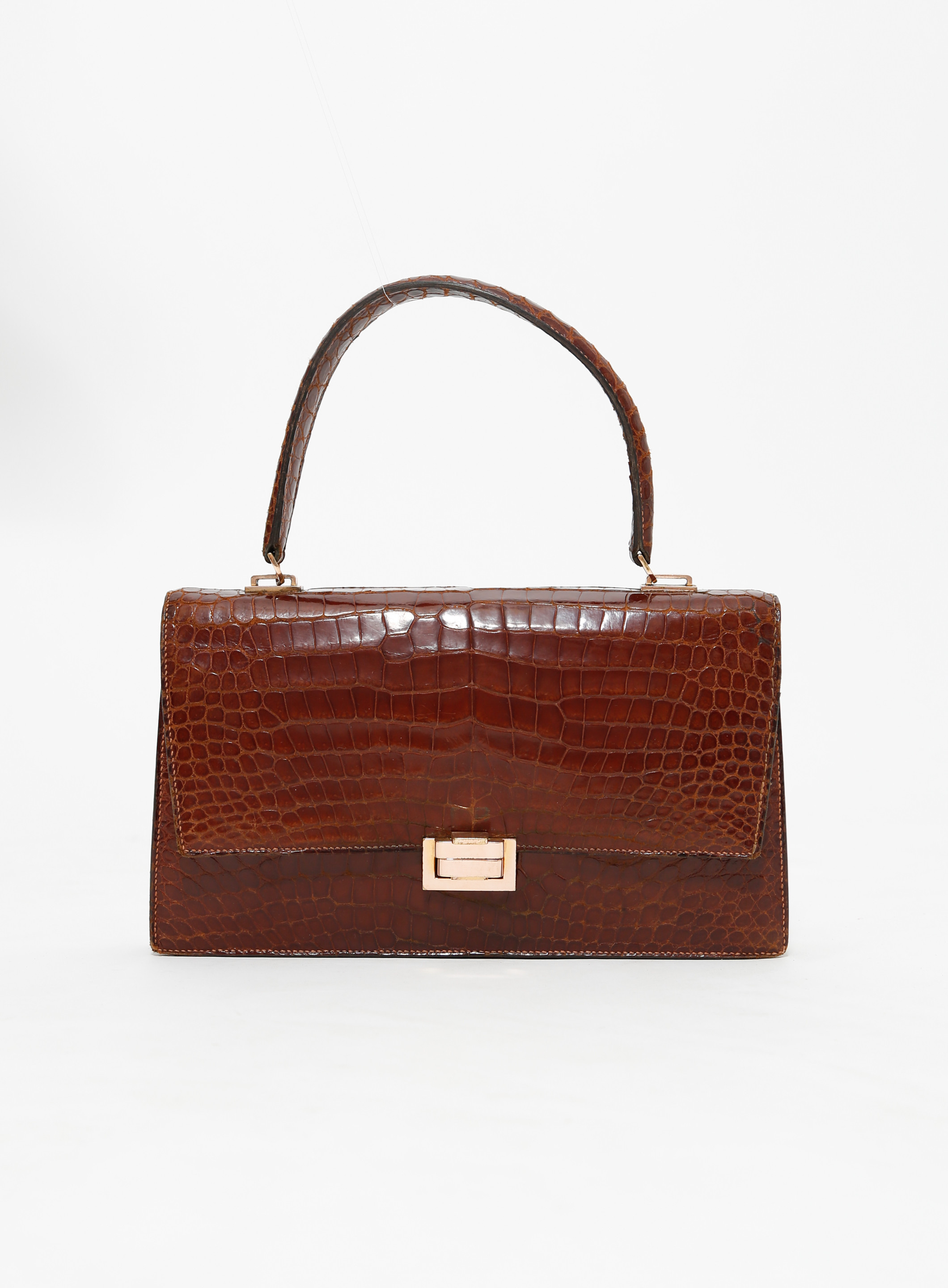 Hermès '60s Crocodile Top Handle Bag