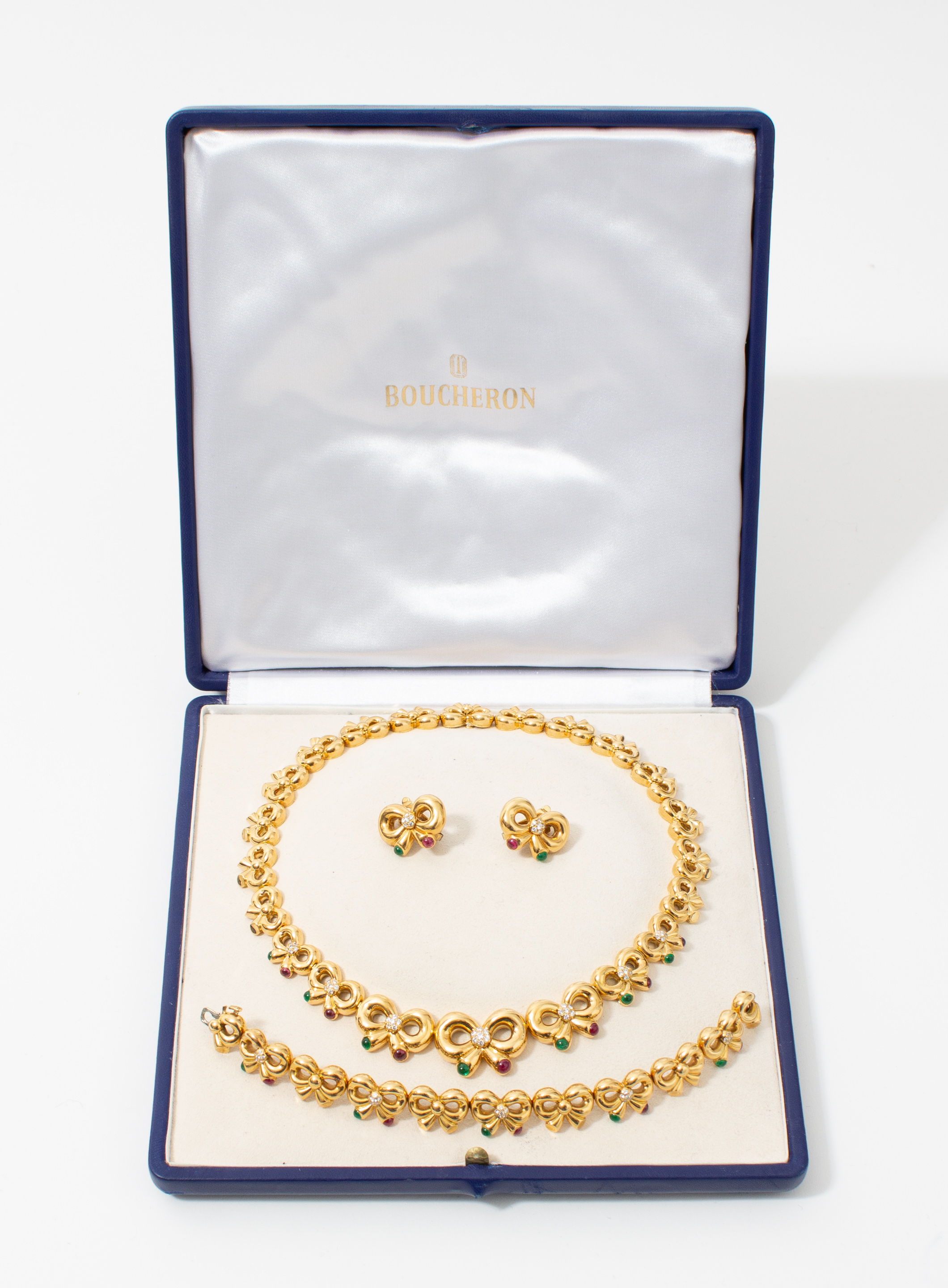 Boucheron PARIS Gold & Precious Stones Necklace Set